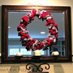upcycled scarf and sweater wreath - Dogs Don't Eat Pizza