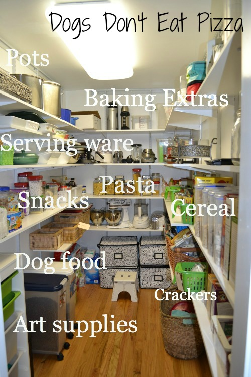 organized pantry, labeled