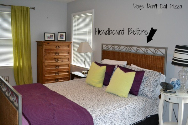 Mohawk Homescapes - headboard in guest room before - Dogs Don't Eat Pizza
