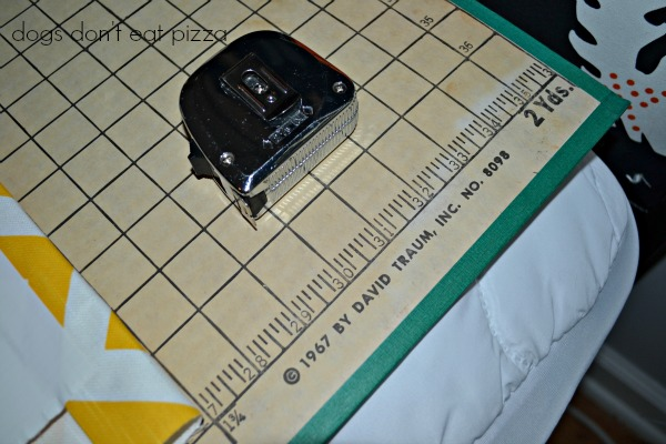 cutting board from 1967, measure and tape poster board, inexpensive materials, easy weekend project, decor change-up