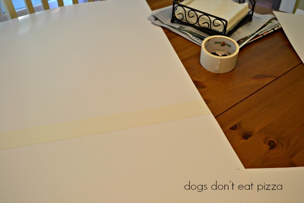 measure and tape poster board