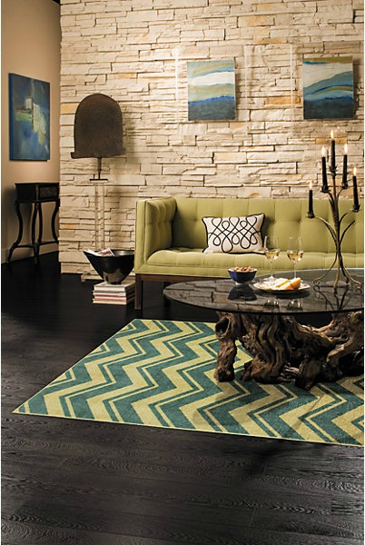 Teal Chevron Rug from Mohawk Home, Mohawk area rug, Weekend Decor, quick decor change, pops of color, bright colors