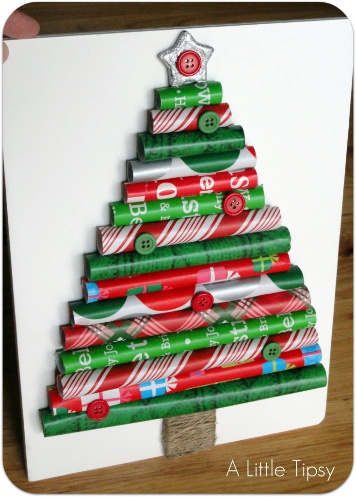 wrapping paper roll Christmas tree - twists on holiday traditions - Mohawk Homescapes