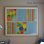 How to make a memo board from an old window - dogsdonteatpizza.com