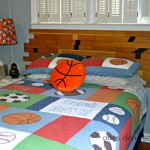 finished gym floor headboard front view - Dogs Don't Eat Pizza