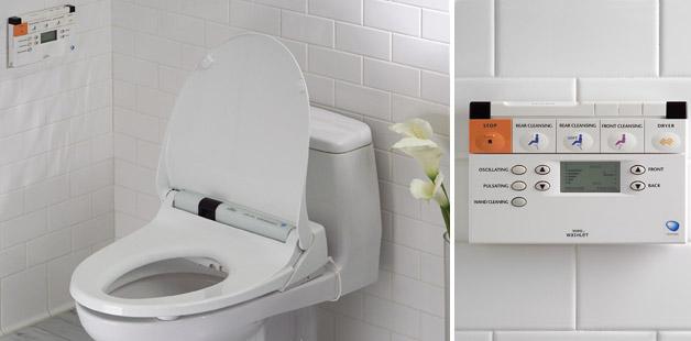 Toilet with remote, high-tech bathrooms, bathroom trends, bathroom ideas, spa feel,