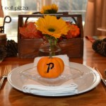 fall place setting with pumpkins - Thanksgiving table - Mohawk Homescapes