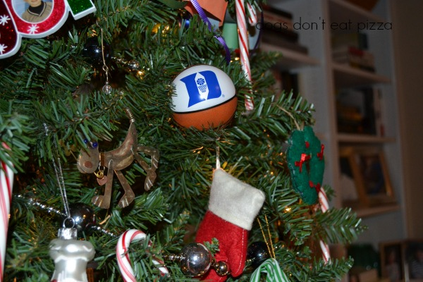 Duke basketball ornament - 2013 holiday - Dogs Don't Eat Pizza