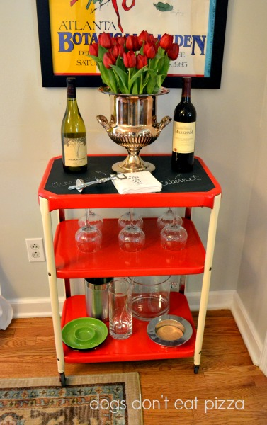 industrial-cart-bar - upcycling- Mohawk Homescapes