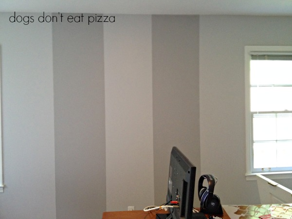 base-coat-with-stripes-on-wall - stenciling - Dogs Don't Eat Pizza