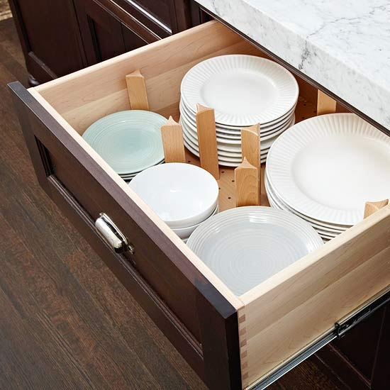 dishes-in-drawer - Dream-Kitchen - Mohawk Homescapes