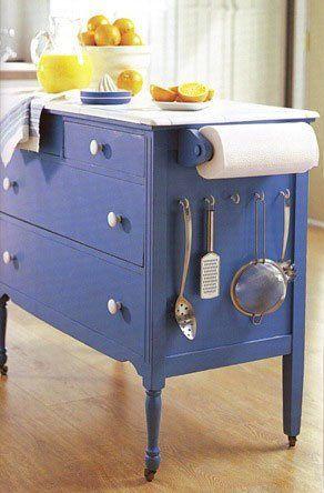 dresser-as-island - Dream-Kitchen - Mohawk Homescapes