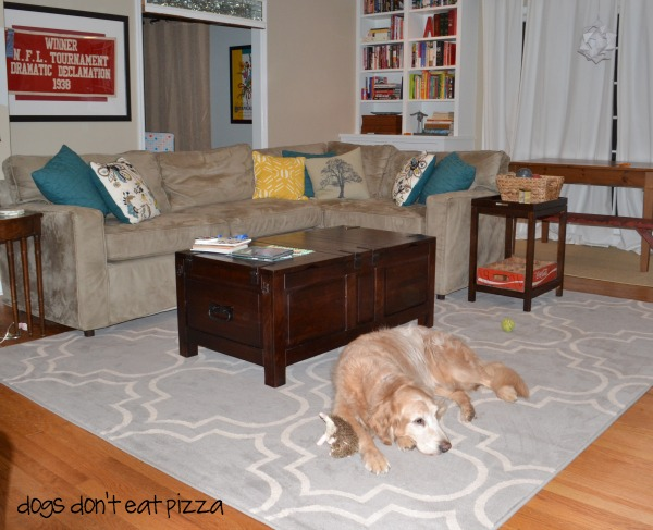 Adding a rug warms up a space - quick fixer upper projects - mohawkhomescapes.com