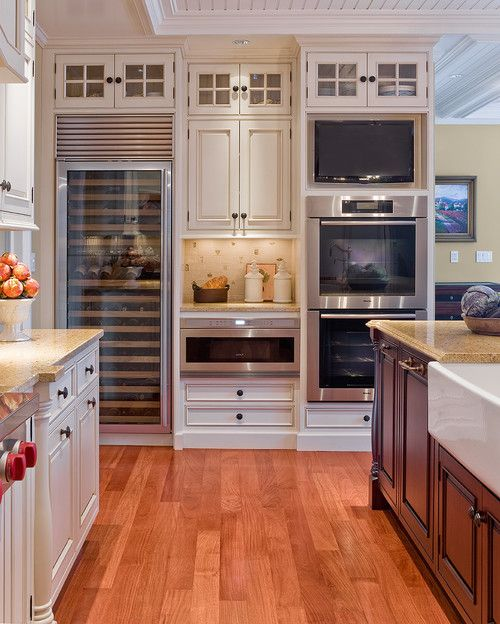 Wine Fridge Double Ovens   Gourmet Kitchen   Mohawk Homescapes