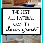 The best all-natural way to clean grout using products from your pantry - from dogsdonteatpizza.com