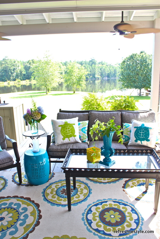 update-outdoor-space - Refresh-Restyle-porch - outdoor-pillows - Mohawk-Homescapes