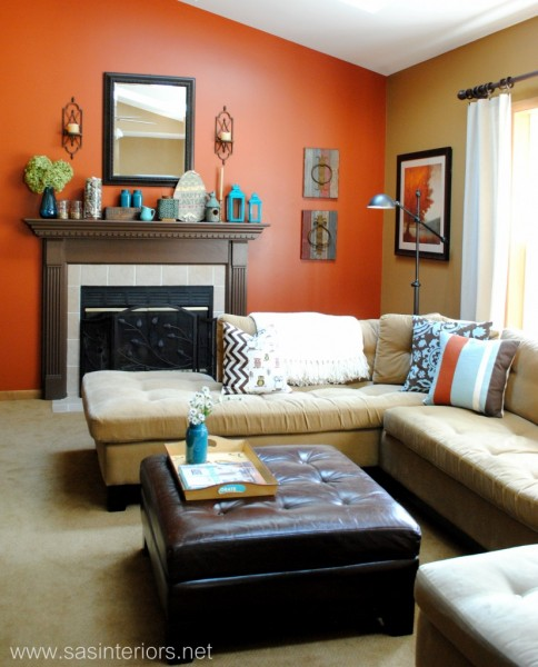 orange-accent-wall- color-showcase - Mohawk-Homescapes