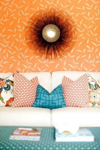 orange-and-teal - color-showcase - Mohawk-Homescapes