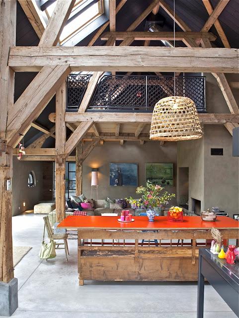 orange-in-farmhouse-rustic-space - color-showcase - Mohawk-Homescapes