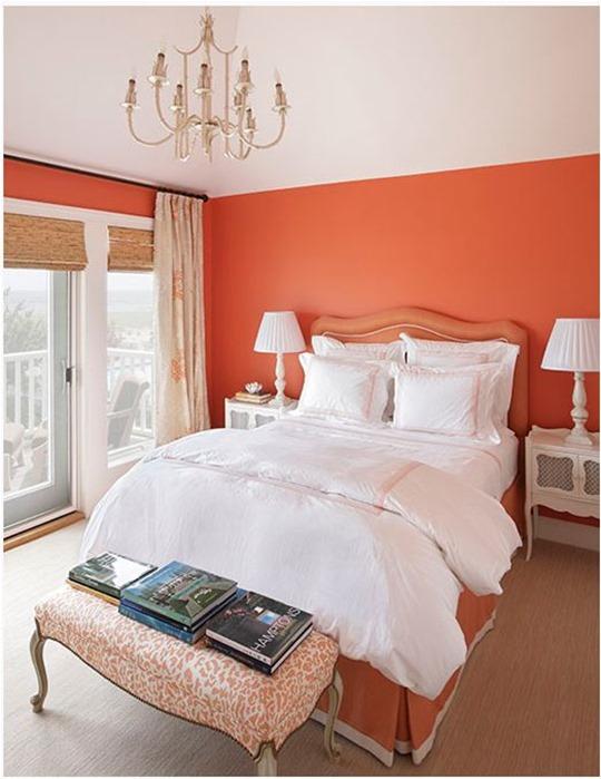 orange-wall-and-leopard-bench-jennifer-flanders - color-showcase - Mohawk-Homescapes