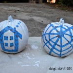 design taped for painted pumpkin - ScotchBlue - Dogs Don't Eat Pizza