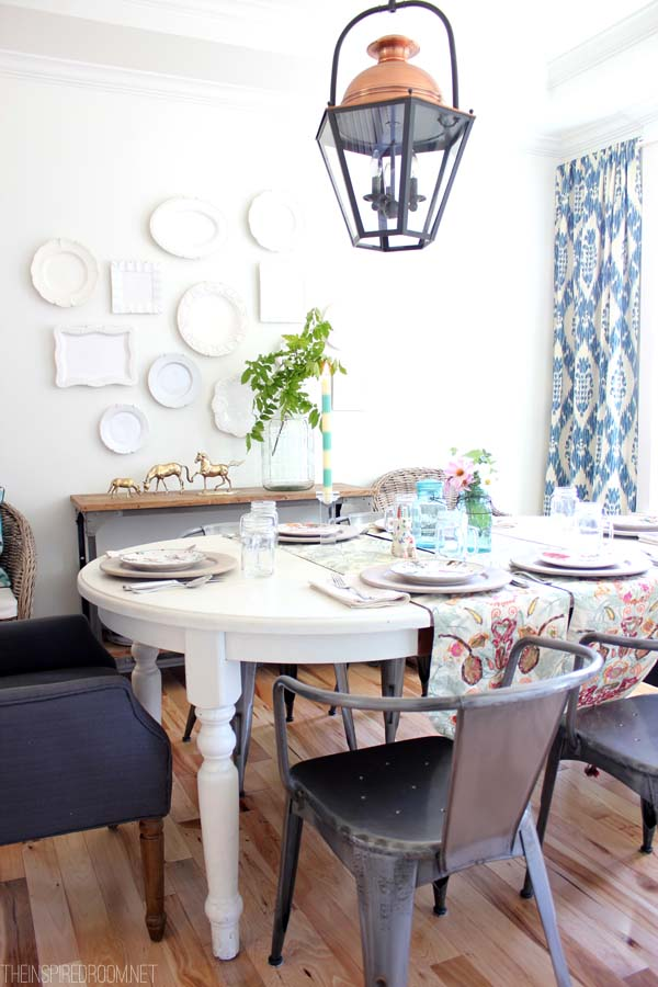 Summer-Dining-Room-The-Inspired-Room - grand dining rooms - Mohawk Homescapes