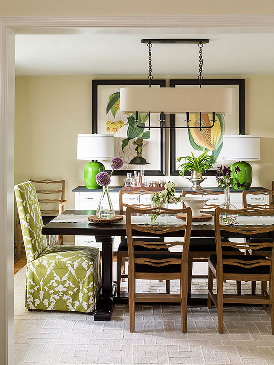 green pops in dining room - grand dining rooms - Mohawk Homescapes