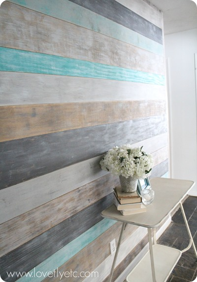 plank-wall-in-entry - lovelyetc - Mohawk Homescapes