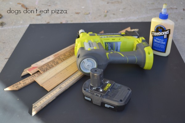 supplies for Christmas countdown chalkboard - RYOBI 18V ONE+ nailer - Dogs Don't Eat Pizza