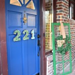 front door finished in Modern Masters Calm Blue - Dogs Don't Eat Pizza