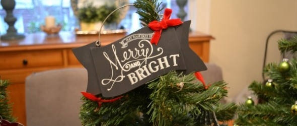 merry and bright ornament - Best Dressed Home - Dogs Don't Eat Pizza