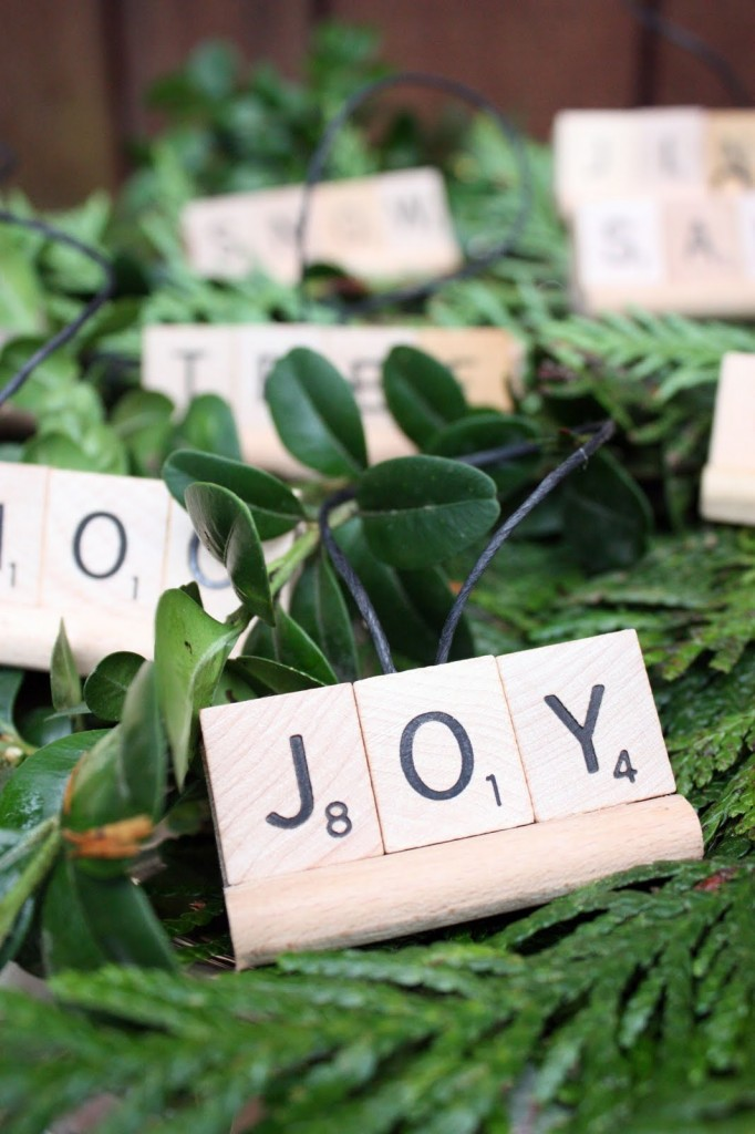 scrabble ornaments - DIY ornaments - Mohawk Homescapes