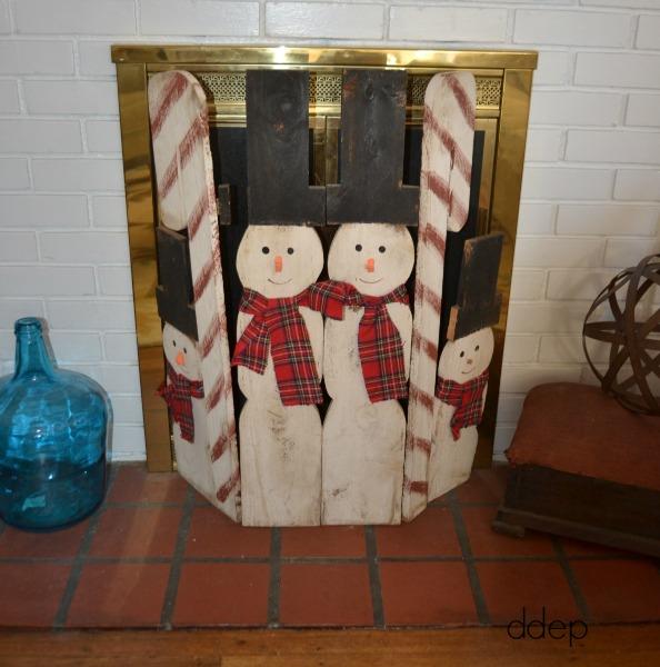 snowmen fireplace screen - Mohawk Homescapes