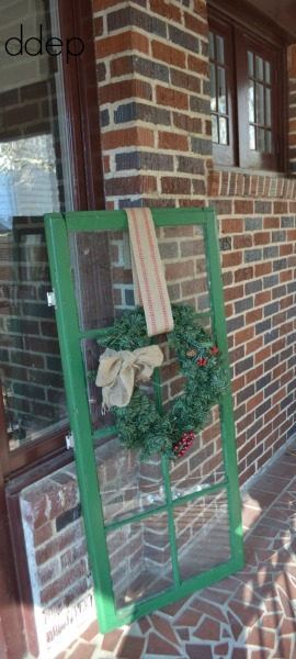 window with wreath - vintage decorating ideas on a budget - Mohawk Homescapes