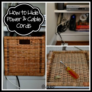How to Hide Power and Cable Cords - Dogs Don't Eat Pizza