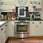 Finished kitchen renovation on a budget - kitchen shelves - dogsdonteatpizza.com