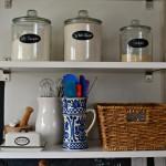 three storage jars on shelves - five favorite design tips - Dogs Don't Eat Pizza