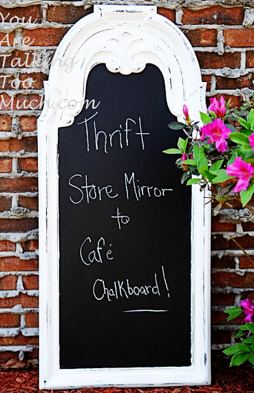White Cafe Chalkboard by You Are Talking Too Much - reinventing traditional pieces - Mohawk Homescapes