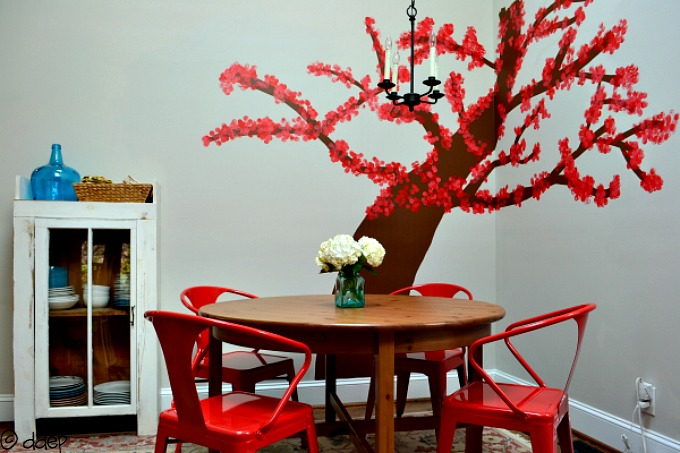 tree in my breakfast room - decor from the ground up - mohawkhomescapes.com