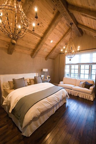 Bedroom with wood ceiling - cozy spaces - Mohawk Homescapes