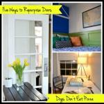 Five Ways to Repurpose Old Doors - dogsdonteatpizza.com