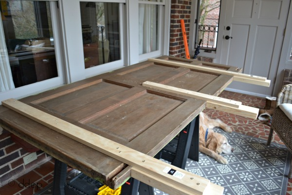 how to build a daybed from old doors. Black Bedroom Furniture Sets. Home Design Ideas