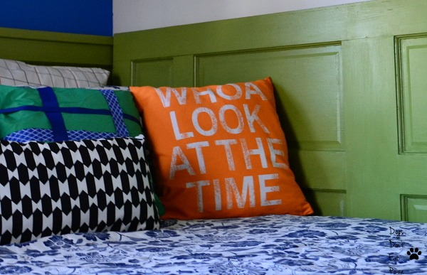 bright orange pillow - happy mood makeover - Mohawk Homescapes