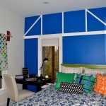colorful accent wall as art - Dogs Don't Eat Pizza