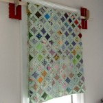 window treatment quilt with trowels - guest room - Dogs Don't Eat Pizza