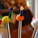 bird drink stirrers - creating a bar - Dogs Don't Eat Pizza