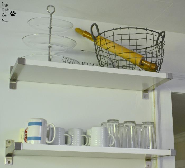 metal basket on shelf - farmhouse style - Mohawk Homescapes