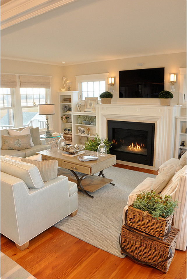 TV and fireplace as focal point   fun and comfortable family room   Mohawk  Homescapes. Ideas for a Fun and Comfortable Family Room   Mohawk Homescapes
