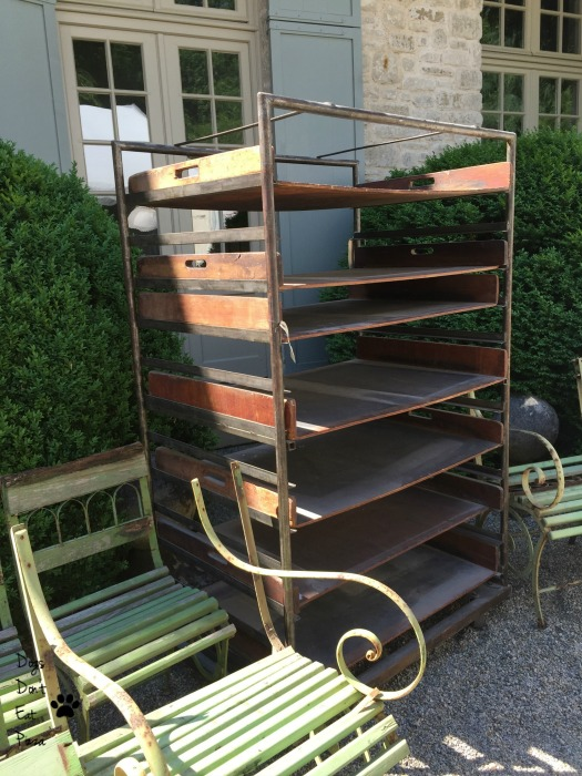Old industrial bakers rack from estate sale - industrial chic - Mohawk Homescapes
