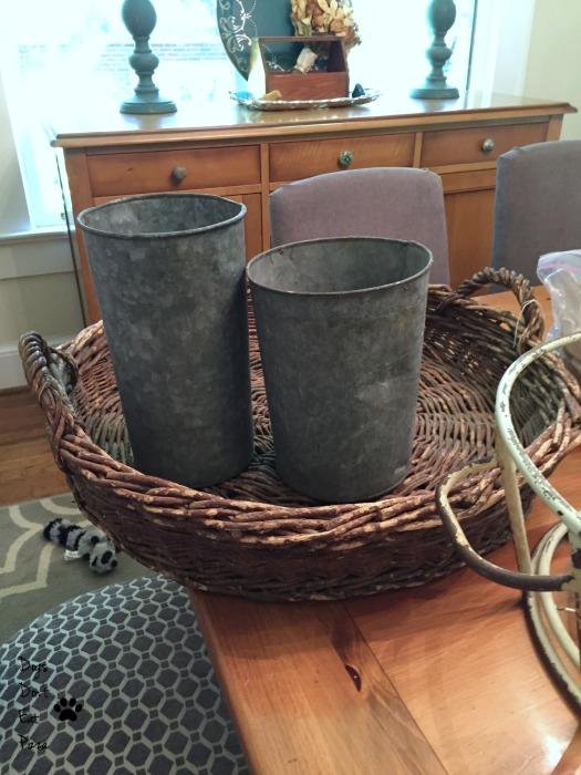 basket and galvanized pails - farmhouse style - Mohawk Homescapes